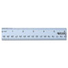 Westcott English and Metric Anodized Aluminum Ruler, 12-Inches, Blue