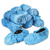 General Supply Disposable Shoe Covers, Nonwoven Polypropylene, Blue, 150 Pairs/Carton