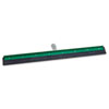 Unger AquaDozer Heavy Duty Squeegee, Black Rubber, Straight, 24