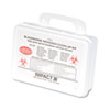 UNISAN Bloodborne Pathogen Clean-Up Kit in Plastic Case, Wall-Mountable