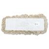 UNISAN Industrial Dust Mop Head, Hygrade Cotton, 18w x 5d, White
