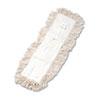 UNISAN Industrial Dust Mop Head, Hygrade Cotton, 24w x 5d, White