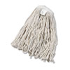 Cut-End Wet Mop Head, Cotton, #20 Size, White