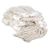 UNISAN Premium Cut-End Wet Mop Heads, Cotton, 20-oz., White, 12/Carton