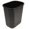 Soft-Sided Wastebasket, 28 qt, Black