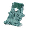 UNISAN Super Loop Wet Mop Head, Cotton/Synthetic, Medium Size, Green