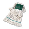 UNISAN Super Loop Wet Mop Head, Cotton/Synthetic, Medium Size, White