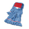 Super Loop Wet Mop Head, Cotton/Synthetic, Large Size, Blue