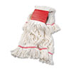 UNISAN Super Loop Wet Mop Head, Cotton/Synthetic, Large Size, White