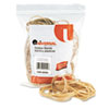 Universal Rubber Bands, Size 54, Assorted Lengths, 1/4lb Pack