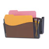 Universal Unbreakable 4-in-1 Wall File, Two Pocket, Plastic, Smoke