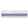 Westcott Data Processing Magnifying Ruler, Clear, 15