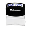 Message Stamp, FILE COPY, Pre-Inked/Re-Inkable, Blue