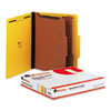 Pressboard Classification Folders, Letter, Six-Section, Yellow, 10/Box