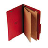 Pressboard Classification Folders, Legal, Six-Section, Ruby Red, 10/Box