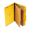 Pressboard Classification Folders, Legal, Six-Section, Yellow, 10/Box