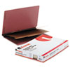 Pressboard End Tab Classification Folders, Legal, Six-Section, Red, 10/Box