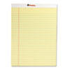 Perforated Edge Writing Pad, Legal/Margin Rule, Letter, Canary, 50-Sheet, Dozen