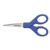 "Westcott Preferred Line Stainless Steel Scissors, 5"" Long, Blue"