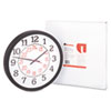 Two-Color Numerals Wall Clock, 13-1/2in, Black