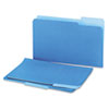 Universal Recycled Interior File Folders, 1/3 Cut Top Tab, Legal, Blue, 100/Box