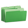 Universal Recycled Interior File Folders, 1/3 Cut Top Tab, Legal, Green, 100/Box