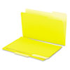 Universal Recycled Interior File Folders, 1/3 Cut Top Tab, Legal, Yellow, 100/Box