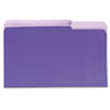 Universal Recycled Interior File Folders, 1/3 Cut Top Tab, Legal, Violet, 100/Box