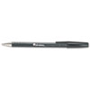 Universal One Comfort Grip Ballpoint Stick Pen, Black Ink, Medium, Dozen
