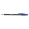 Universal One Comfort Grip Ballpoint Stick Pen, Blue Ink, Medium, Dozen