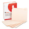 File Folders, 1/5 Cut Assorted, Two-Ply Top Tab, Letter, Manila, 100/Box