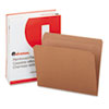 Kraft File Folders, Straight Cut, Top Tab, Letter, Brown, 100/Box