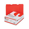 Universal One Colored File Folders, 1/3 Cut Assorted, Two-Ply Top Tab, Letter, Red, 100/Box