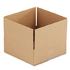 Corrugated Kraft Fixed-Depth Shipping Carton, 12w x 12l x 4h, Brown, 25/Bundle