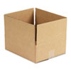 Universal Corrugated Kraft Fixed-Depth Shipping Carton, 10w x 12l x 4h, Brown, 25/Bundle
