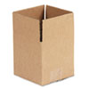 Corrugated Kraft Fixed-Depth Shipping Carton, 5w x 5l x 5h, Brown, 25/Bundle