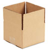 Corrugated Kraft Fixed-Depth Shipping Carton, 6w x 6l x 4h, Brown, 25/Bundle