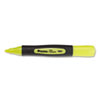 Universal Desk Highlighter w/Comfort Grip, Chisel Tip, Fluorescent Yellow, 12/Pk