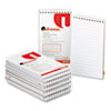 Universal Wirebound Memo Books, Narrow Rule, 3 x 5, White, 12 50-Sheet Pads/Pack