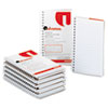 Universal Wirebound Memo Books, Narrow Rule, 5 x 3, White, 12 50-Sheet Pads/Pack