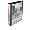 Economy D-Ring Vinyl View Binder, 1&quot; Capacity, Black