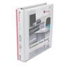 Universal One Economy D-Ring Vinyl View Binder, 1-1/2