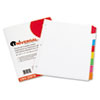 Universal Write-On/Erasable Indexes, Eight Multicolor Tabs, Letter, White, 8/Set