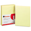 Glue Top Writing Pads, Wide Rule, Letter, Canary, 50-Sheet Pads/Pack, Dozen
