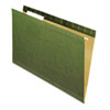 Universal One Reinforced Recycled Hanging Folder, 1/3 Cut, Legal, Standard Green, 25/Box