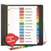Universal One Table of Contents Dividers, Assorted Color 12-Tab, Months, Letter, White