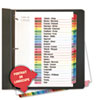 Universal One Table of Contents Dividers, Assorted Color 26-Tab, A-Z, Letter, White, 26/Set