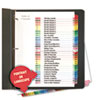 Universal One Table of Contents Dividers, Assorted Color 31-Tab, 1-31, Letter, White, 31/Set