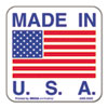 """Made in USA"" Self-Adhesive Shipping Labels, 1 x 1, 500/Roll"