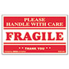 Universal FRAGILE HANDLE WITH CARE Self-Adhesive Shipping Labels, 3 x 5, 500/Roll